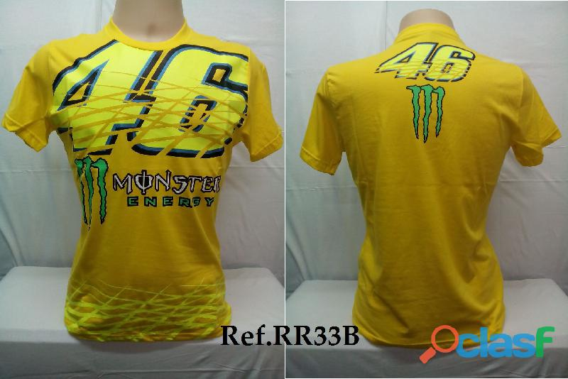 AY Camisetas Moto Velocidade Valentino Rossi, VR46, The Doctor, The Donkey, BMW, Monster 9