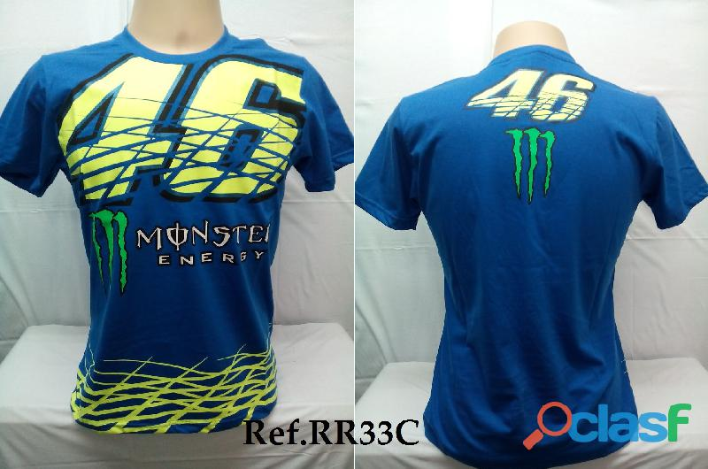 AY Camisetas Moto Velocidade Valentino Rossi, VR46, The Doctor, The Donkey, BMW, Monster 10