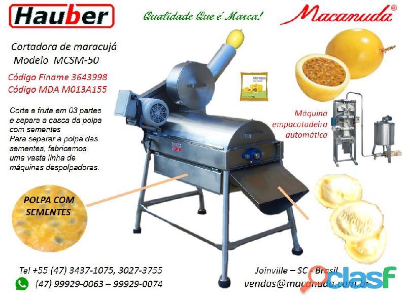 Maracujá, máquinas para despolpar macanuda