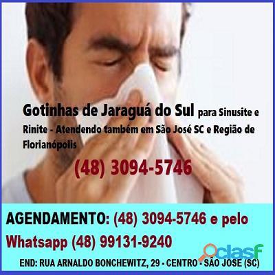 Sinusite, rinite, asma bronquite tratamento gotinhas de jaraguá do sul em são josé sc florianópolis