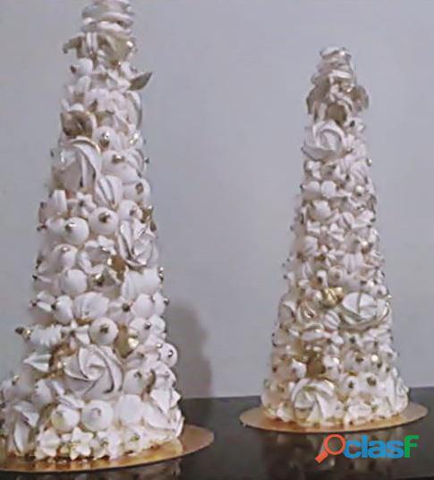 Torre de suspiros, mini suspiros, letras de suspiros, cone de suspiros, rosas de suspiros