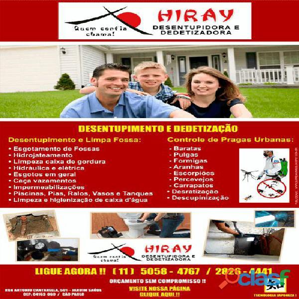 Encanador desentupidora hiray 5058 47 67 no ipiranga