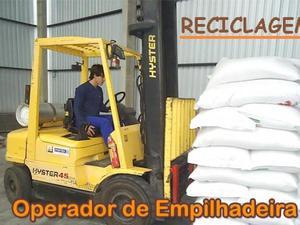 Curso de operador de empilhadeira (reciclagem)
