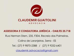 Advogado - assessoria e consultoria jurídica