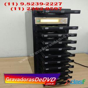 Duplicadora de cd e dvd com 11 gravadores philips