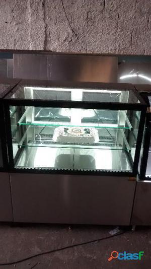 Vitrine em aço inox refrigerada direto da fabrica