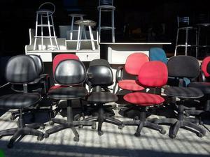 Cadeira secretária escritório giratória fixa escola