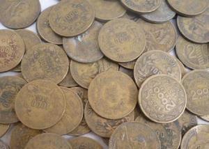 Compro moedas amarelas brasileiras de 1924 a 1956. por kg