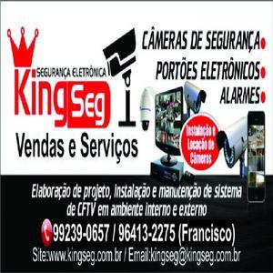 Instalação de câmeras de segurança é com a kingseg