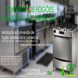 Manutenção de aquecedores, conversão de fogão