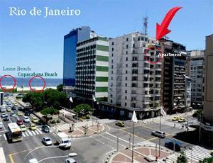 Apartamento praias copacabana e leme