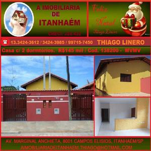 Casa nova em bairro residencial de Itanhaém (praia)