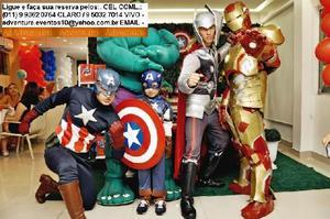 Locação Personagens Vivos Super Herois