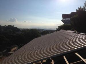 Telhado colonial montado - Rio de Janeiro
