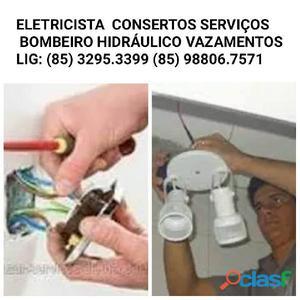 Eletricista bombeiro hidráulico (85) 3295.3399