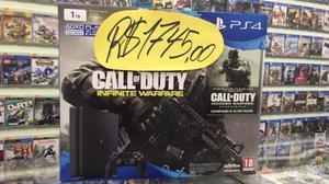 Playstation 4 slim hd 1tb, edicao call duty 22 jogos psn