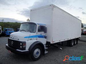 Caminhão mb 1113 ano 1982 bau truck direção