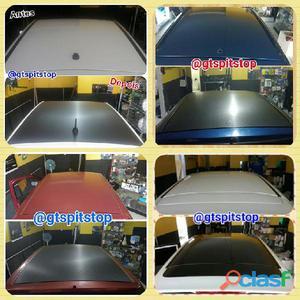 Envelopamento de teto e/ou capu carro protege a pintura original, esconde riscos e previne novos arr
