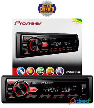 Som automotivo pioneer mvh 88ub mp3 player   rádio am/fm entrada usb auxiliar