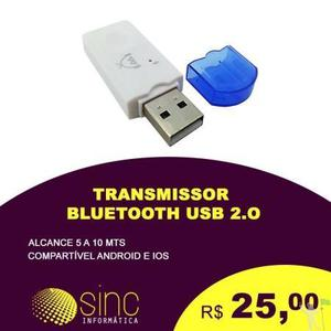 Transmissor e receptor bluetooth usb 2.0
