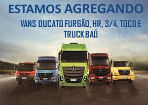 Estamos agregando caminhões vans ducato furgão, hr, 3/4,