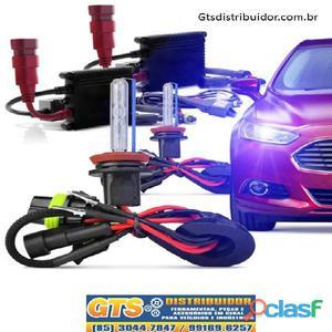 Kit xenon lâmpada 6000k ou 8000k h1 h3 h7 h11 hb3 hb4 h4 2 completo com reator e lâmpada