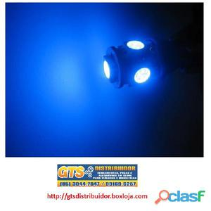 Lampada pingo azul 5 leds alta intencidade