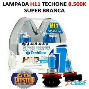 Lâmpada super branca h11 8500k techone