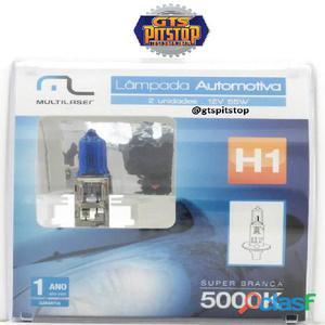 Lâmpadas automotiva multilaser h1   12v   55 watts super branca 5000k   au802