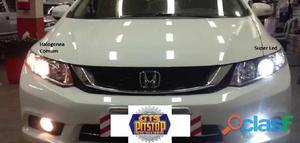 Lâmpadas Super LED Headlight 12V 24V 32W 2200LM Efeito Xenon 6000K H1 H11 H27 H3 H4 H7 H8 HB4