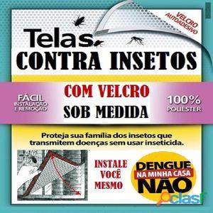 Telas contra insetos em velcro