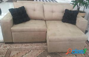 Sofá retrátil e reclinável   peça ùnica   kaza design carrão