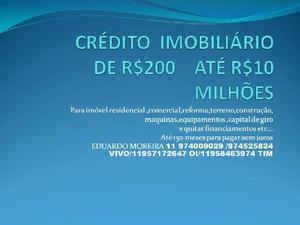 Crédito imobiliário de 100 até 7 milhões