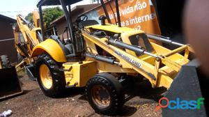 Retro escavadeira new holland lb 90 motor cummis