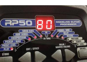 Pedaleira guitarra Digitech RP50 com 30 ritmos de bateria