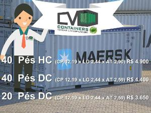 Container 40 pés em promoção