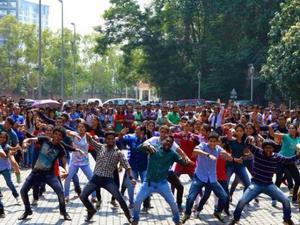 Intervenção artistica flash mob eventos são paulo