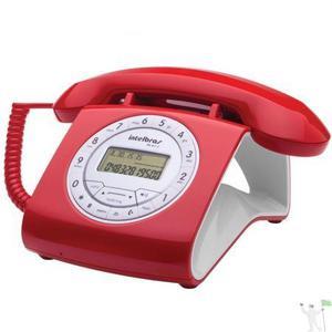 Telefone estilo retrô com fio e id tc8312