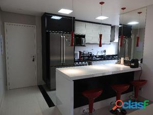 Apartamento 3 dormitórios 2 vagas 86 m² em santo andré   vila valparaíso.