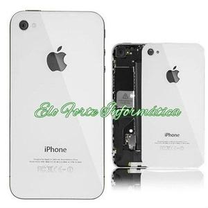 Tampa Traseira Original Apple Iphone 4 – Branco e Preto -
