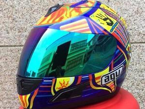 capacete agv k3 5/five novo continents moto valentino rossi