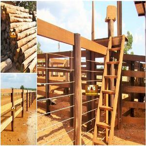 Esticador e mourões de madeira acapu cercas currais e