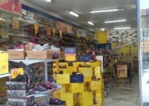 Loja de calçado montada