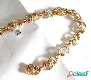 pulseira em ouro rosa modelo portuguêsa