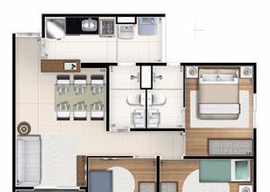 Apartamento de 3 dorm. a 500m do metrô