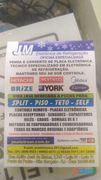 Conserto e venda de placa eletronica de split ar condicionado