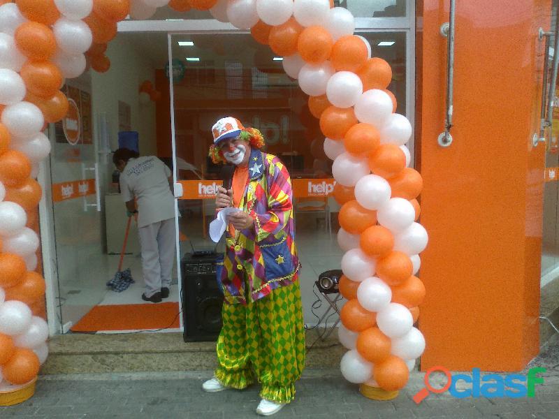 Locutor porta de loja, palhaço para inauguração 6
