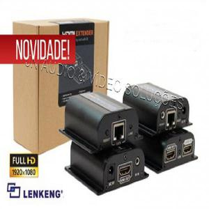 Extender de video hdmi (3d)+ir c/ by pass via cat6/7 até