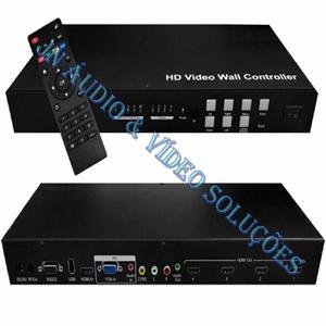 Video wall hdmi 2x2 com função switch e splitter sx-vw02