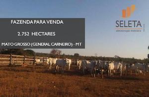 Fazenda 2752 hectares em general carneiro mt